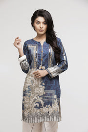 VICTORIAN TALES - Lahore Designer Dress  Blue Black kurta with offwhite pants