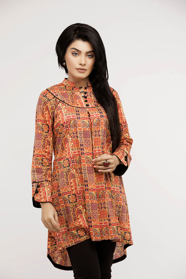 jbadl-740- Luxury Digital Design Clothing BAHAWALPUR, lawn ban neck shirt