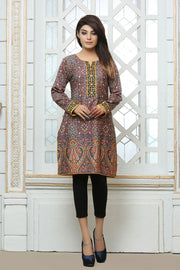 JBASD-666-B - Luxury Digital Design Clothing PESHAWAR, ornamented purple and orange shirt