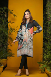 LAWN SHIRT / FLORAL COLOR BLOCK - Jacquard.pk