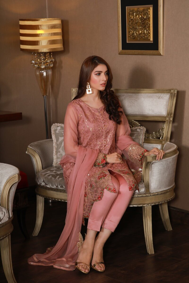 jssf-621-Online Designer Dress GOJRA, dyed organza shirt trouser and dupatta