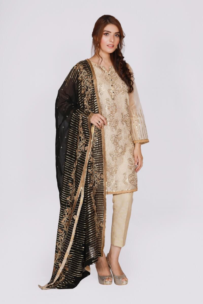 jssf-682-BAHAWALPUR Designer Dress, shirt round neckline with slit and buttons, shirt stitch with attached lining