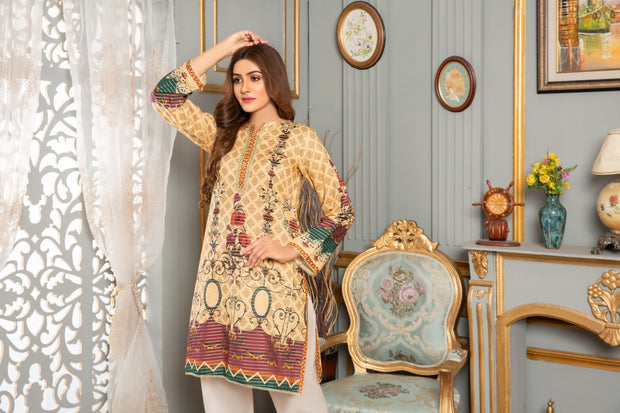 LAWN SHIRT / TURKISH GARDEN - Jacquard.pk