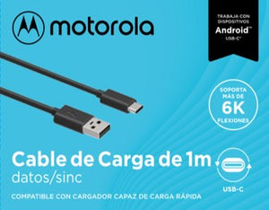 Cable  Tipo C Motorola  Negro1 Metro Turbo Charge 3.0