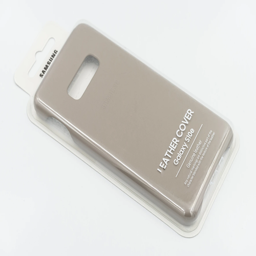 Case Samsung Leather cover Gris Galaxy S10e