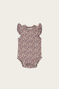 Frill Singlet Bodysuit - Lily of the Valley