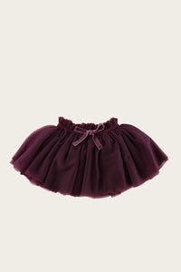 Soft Tulle Skirt - Plum