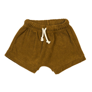 Organic Terry Shorts-Curry