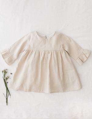 Indi Linen Dress - Natural