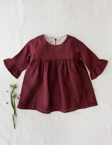Indi Linen Dress - Plum