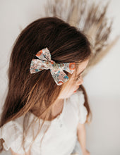 Load image into Gallery viewer, Melodie Floral Magic Cotton Bow Headband or Clip