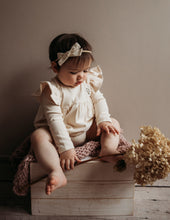 Load image into Gallery viewer, Milana Winged Cotton Playsuit - Almond Cream