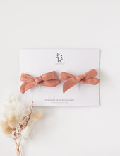 Load image into Gallery viewer, School Girl Linen Bow Headband or 2pc Clip Set - Sunkiss