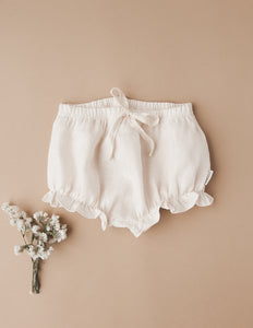 Ella Linen Bloomers - Cream