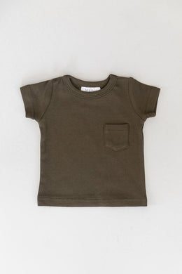 Cotton Pocket Tee - Olive