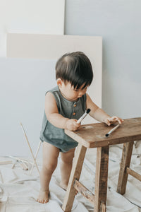 Riley Romper - Oxford