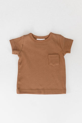 Cotton Pocket Tee - Honey