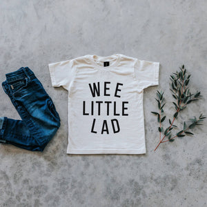 Wee Little Lad Organic Kids Tee - Cream