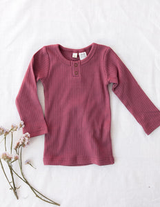 Willow Long Sleeve Top - Garden Rose