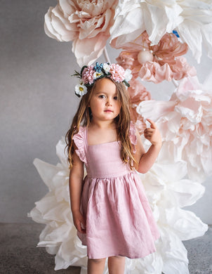 My Little Sunshine Dress - Rose Blush