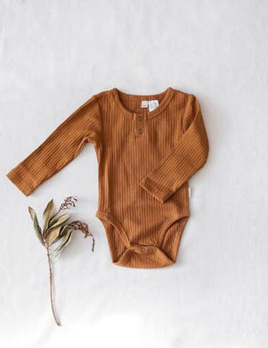 Willow Long Sleeve Bodysuit - Acorn