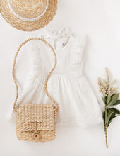 Load image into Gallery viewer, Little Angel Cotton + Lace Dress - White
