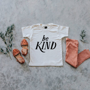 Be Kind Organic Kids Tee - Cream