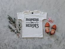 Load image into Gallery viewer, Farmers Are Heroes Organic Kids Tee
