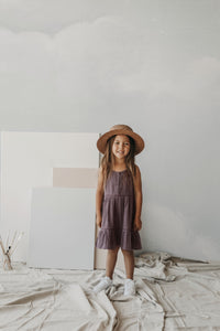 Organic Cotton Muslin Hazel Dress - Wisteria
