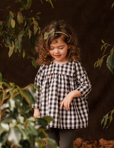 Mimi Little Cotton Dress - Check