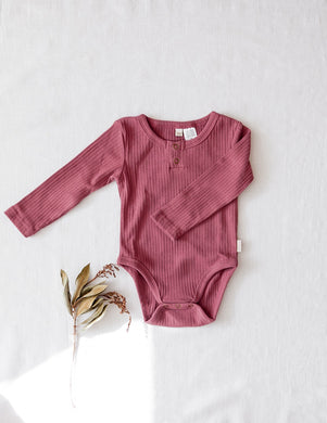 Willow Long Sleeve Bodysuit - Garden Rose