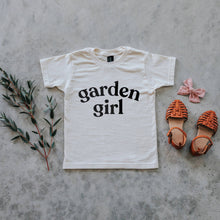 Load image into Gallery viewer, Garden Girl Organic Kids Tee - Cream