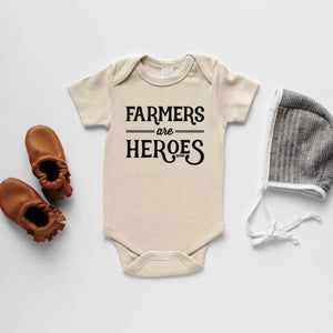 Farmers are Heroes Organic Baby Bodysuit