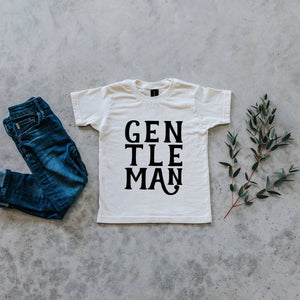 Gentleman Organic Kids Tee - Cream