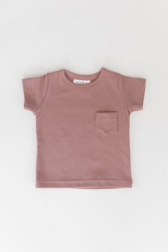 Cotton Pocket Tee - Blush
