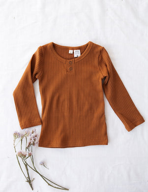 Willow Long Sleeve Top - Acorn