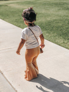 Velvet Bell Bottoms - Gold