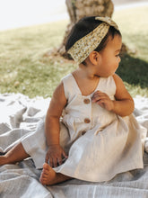 Load image into Gallery viewer, Mustard Floral Nylon Baby Headband