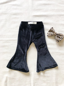 Velvet Bell Bottoms - Black
