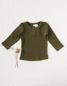 Willow waffle Long Sleeve - Olive