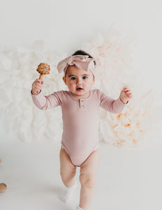 Willow Long Sleeve Bodysuit - Soft Pink