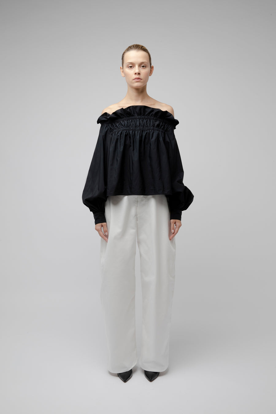 BACALL OVERSIZE TROUSERS WHITE