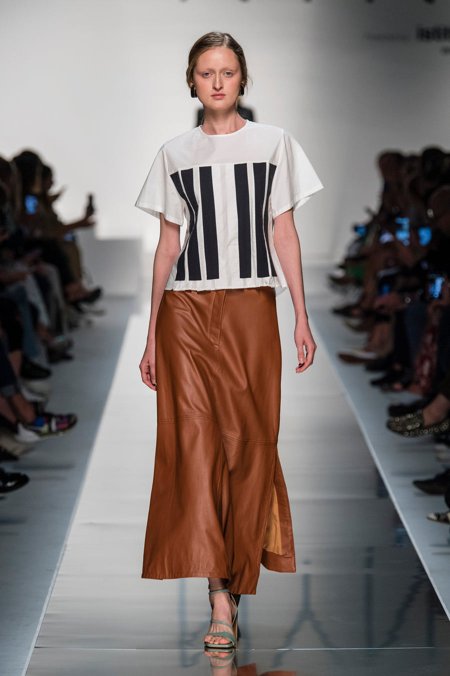 GRETA SKIRT COGNAC LEATHER