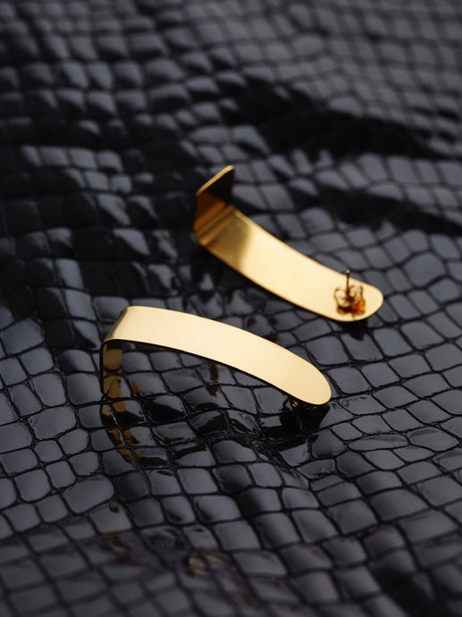 CLAIRE Long Round Gold Earrings