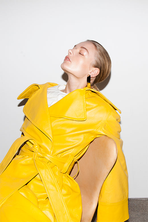 ROBYN TRENCH COAT YELLOW