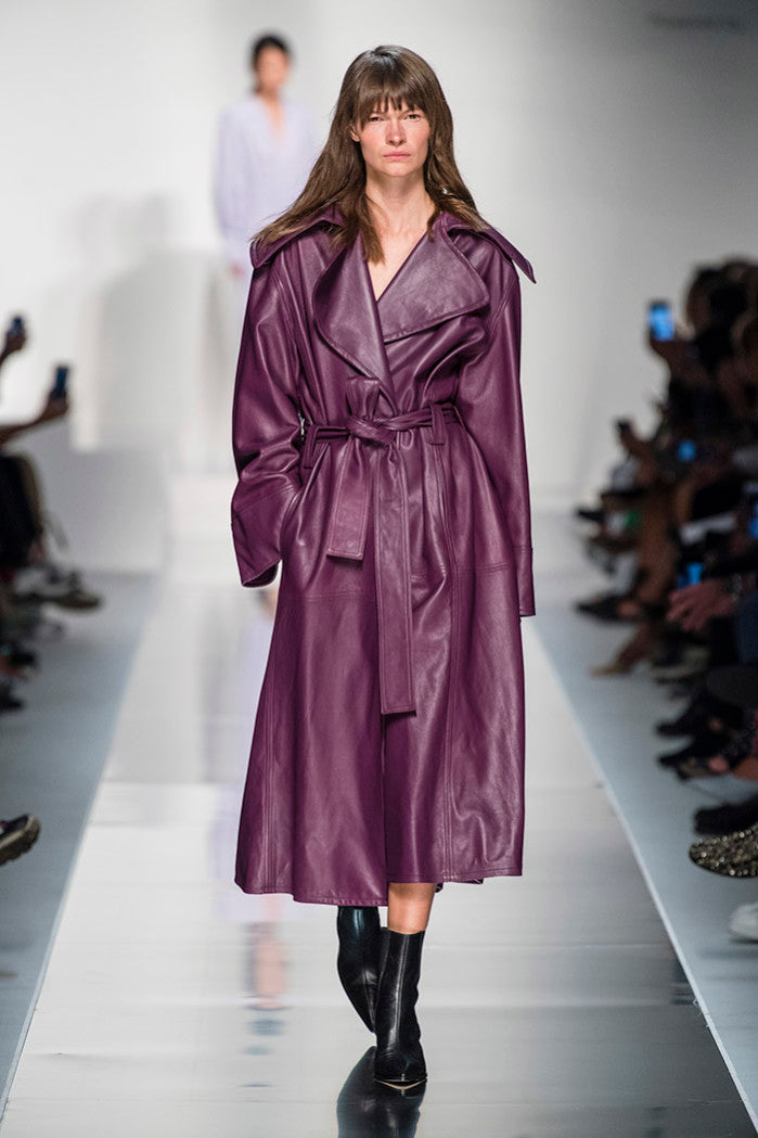 ROBYN TRENCH COAT AUBERGINE
