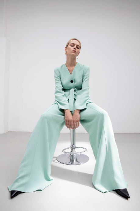 VERA Mint tailored wide leg trousers