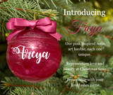Personalised Resin Art Round Christmas Baubles