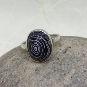 Oval Detroit Fordite Ring