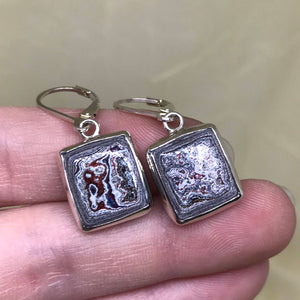 Detroit Fordite Dangle Earrings